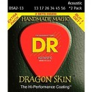 DR Strings Dragon Skin Acoustic 2 Pack 13-56