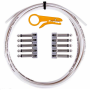 Lava Cable TightRope Solder-Free Kit: 10' Cable & 10 Right Angle Plugs - White LCTRKTW