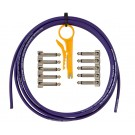 Lava Cable HIGH-END MINI ULTRAMAFIC PEDAL BOARD KIT Solder Free 10' Cable & 10 Right Angle Plugs - Purple LCTRKTHE