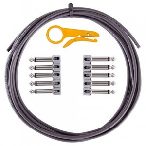 Lava Cable TightRope Solder-Free Kit: 10' Cable & 10 Right Angle Plugs - Black LCTRKTB