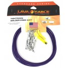 Lava Cable High End TightRope Solder-Free Kit: 10' Cable & 10 Right Angle Plugs - Purple