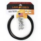 Lava Cable Piston Solder-Free Kit: 10' Mini ELC Cable & 12 Combo Piston Plugs - Black
