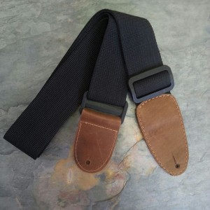 "Probag 2"" Nylon Guitar Strap with 2-ply Leather Ends"